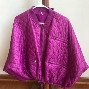 Free People dolman quilted bomber jacket.